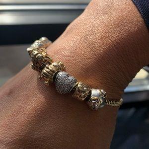 14k Gold Pandora Bracelet 7 1/2